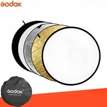 Портативный складной круглый светильник для фотосъемки, 24 дюйма, 60 см, 5 в 1, отражатель для студии, дисковые рассеиватели