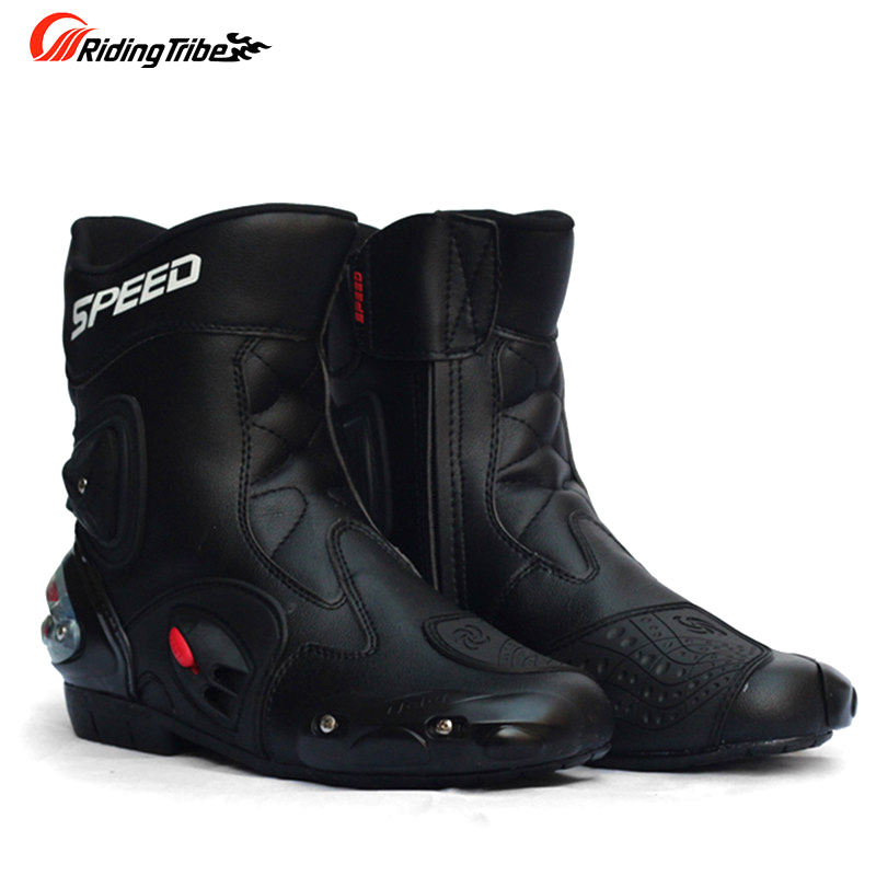 цена на Riding Tribe SPEED Motorcycle Boots Shoes Motocross Botas Moto Motoqueiro Motocicleta A0041 Botte Botas Para Moto Men
