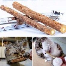 Cat cleaning teeth Pure natural catnip pet cat molar Toothpaste stick actinidia fruit cat snacks sticks C2011P10