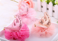 лучшая цена 2019 Newest fashion girls hair pins cute crystal angel wing's hair clips colors lace butterfly hair barrettes hair accessories