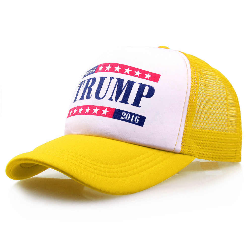 1b47e8e66 New Letter Print Make America Great Again Trump Hat for USA President Fans  Mesh Cap 11 Style Black Red White Blue Hats
