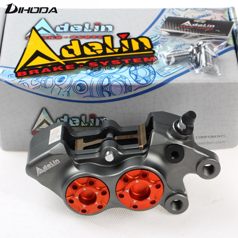 ADL-11 Double star calipers Motorcycle modification ADL 11 electric motorcycle four piston brake calipers For WISP RSZ YAMAHA adelin adl 21 motorcycle modification electric motorcycle double piston brake calipers for wisp rsz yamaha small crab calipers