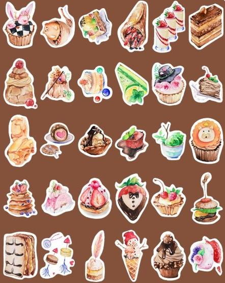AEMX3-delicious cake time paper postcard(1lot=6pieces)