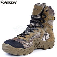 Men's Outdoor High Top Waterproof Camouflage Hiking Boots Shoes Men Military Tactical Camping Sports Shoes
