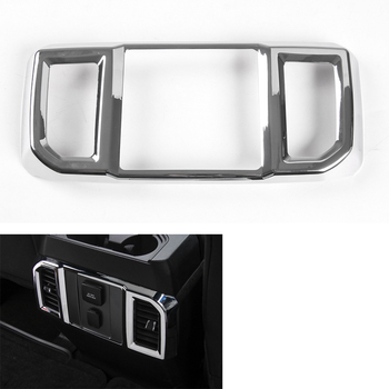 Car Rear Row Air Conditioner Vent Frame Trim Styling For Ford F150 2016 2017 Auto Interior Accessories