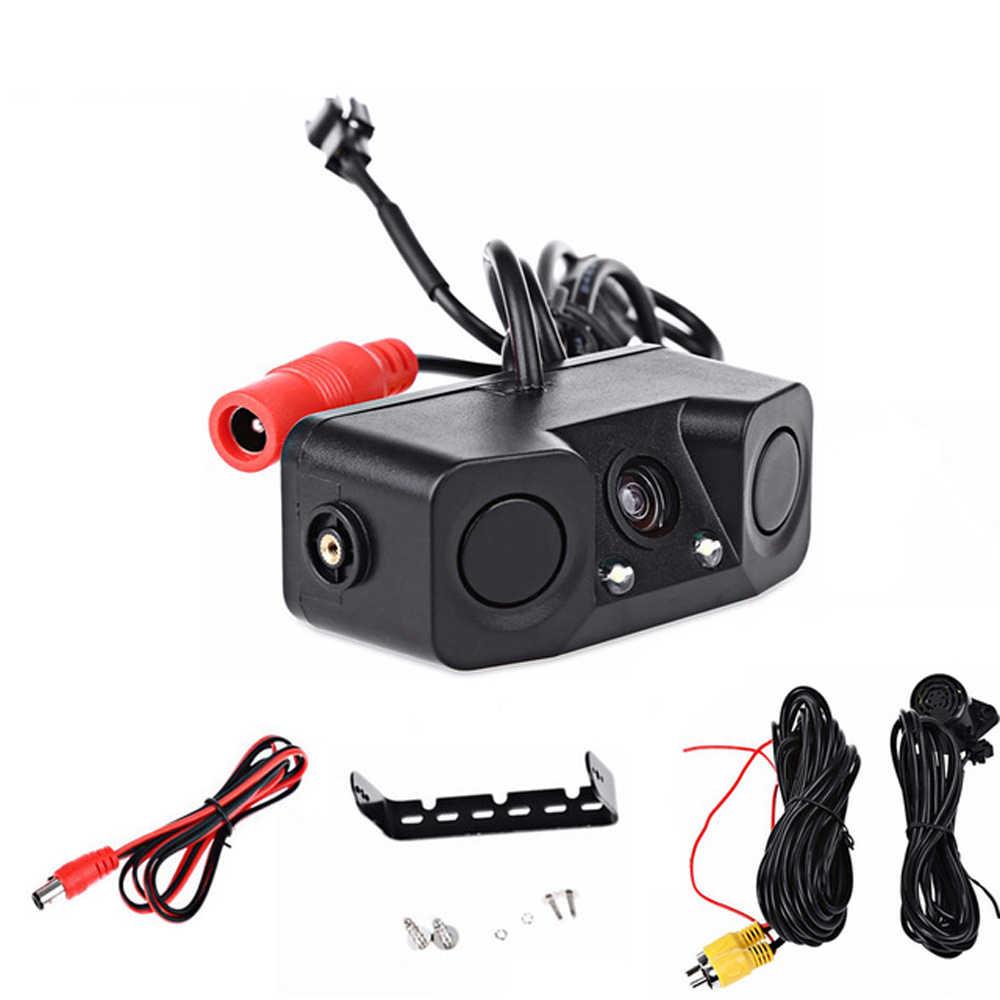 Podofo 2 в 1 Радар-детектор Датчик звуковой сигнализации Система помощи при парковке Автомобильная камера заднего вида со светодиодной подсветкой ночное видение