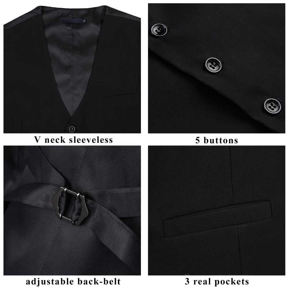 Boda de los hombres de negocios Formal vestido de chaleco de traje de corte Slim Casual esmoquin Chaleco de moda de Color sólido