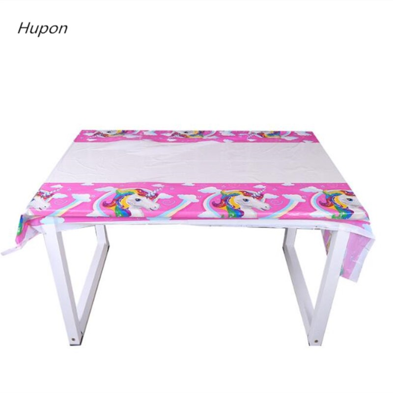 Cartoon Unicorn Tablecloths Kids Birthday Party Decorations Tablecover 1st Birthday Table Decoration Unicorn Party Tablecloths