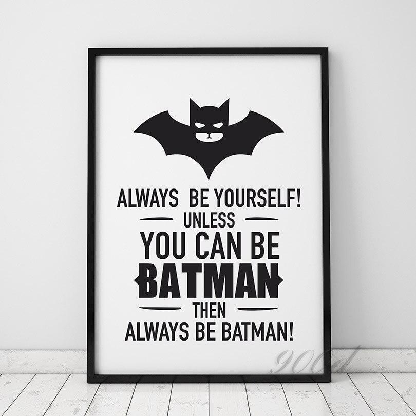 Batman Zitieren Leinwand Kunstdruck Poster, Wandbilder für ...