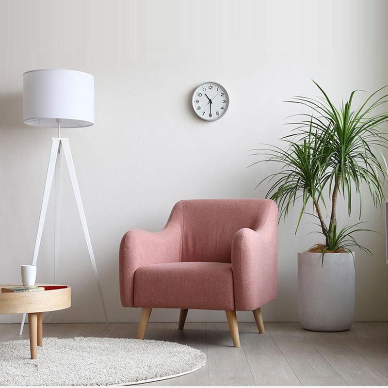 Modern Solid Wood Hotel Sofa Coffee Shop American Sofa Family Study Bedroom Restaurant Furniture Leisure Nordic Back Chair