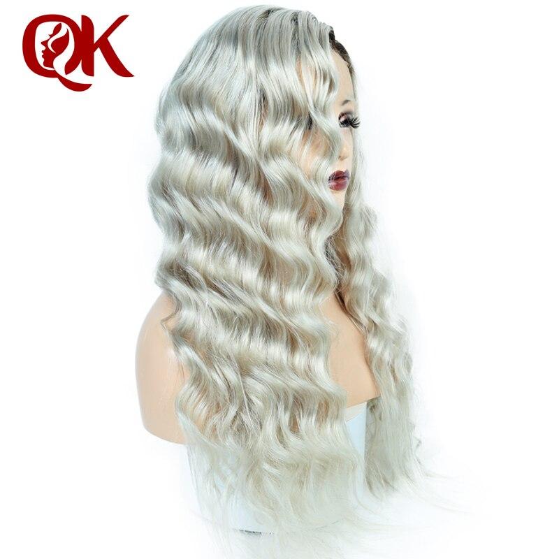 Queenking волос 150% плотность Ombre Ким Кардашян человеческие волосы парик с ребенком волос предварительно сорвал парик бразильские Волосы remy