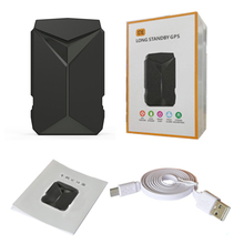 GPS Tracker 8.7*2.6*5.4cm Magnetic Waterproof GPS Locator Voice Monitor Shock Alarm without WiFi Devices(China)