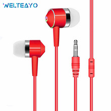 Wired Earbuds Headphones 3.5mm Red Yellow Black Red Blue White Green Pink In Ear Wire Earphone Earpiece With Mic Stereo Headset red line stereo headset e01 black ут000009820