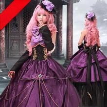 Vocaloid Megurine Luka cosplay para la mujer medieval gótico vestido adultos anime ropa para niñas personalizada
