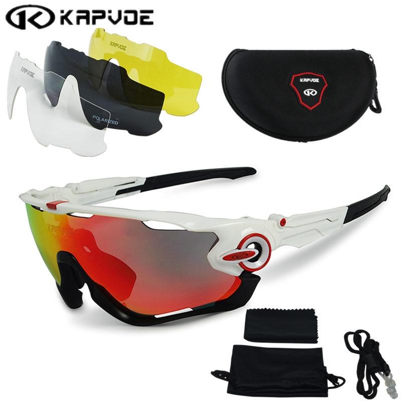 2017 Polarized Cycling sunglasses Cycling glasses Bicycle Running Fishing sport Sunglasses bicicleta Gafas ciclismo 4pcs Lens triangle design mirror lens sunglasses