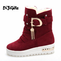 2018 New Winter Women S Boots Plus Velvet Swing Shoes Snow Platform Boots Female Thermal Cotton