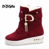 2018 New Winter Women S Boots Plus Velvet Swing Shoes Snow Platform Boots Female Thermal Cotton