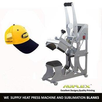 8cmx14cm Heavy Manual Semi Auto Hat Lable 2 in 1 Digital Clamshell Baseball Cap Heat Press