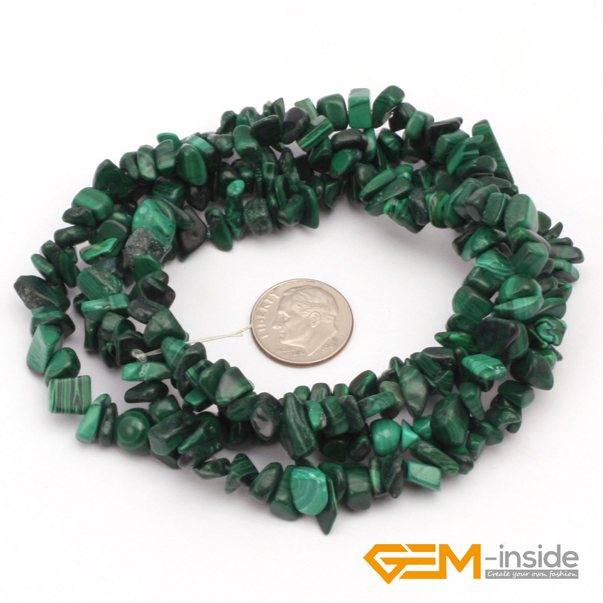 Kostenloser Versand! 7 --- 8 mm Malachit Stein Chips Perlen - Modeschmuck - Foto 2