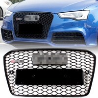 1Pcs Car Racing Grill For Audi RS5 A5 S5 2012 2016 Grille Emblems Radiator Chrome Trim