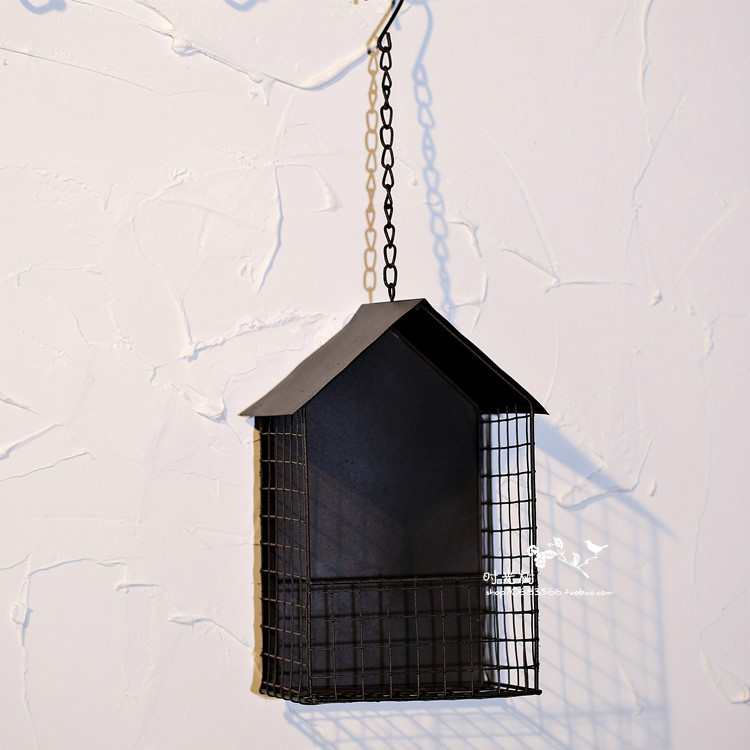 Rural wrought iron flower basket house Decoration pendant