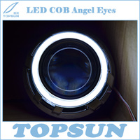 2 Pcs Super Bright 95 Mm LED COB Angel Eyes Halo Ring For 3 Inch Projector