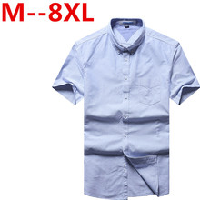 9XL 8XL 6XL Ali Men Shirt Short Sleeve Casual Social Male Dress Shirts Male Striped Shirt Top Quality Summer Camisa Masculina