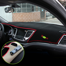 Car dashboard Evitare la luce Strumento di copertura piattaforma scrivania pad Mats Tappeti LHD Per Hyundai Tucson 2015 2016 2017 2018 accessori