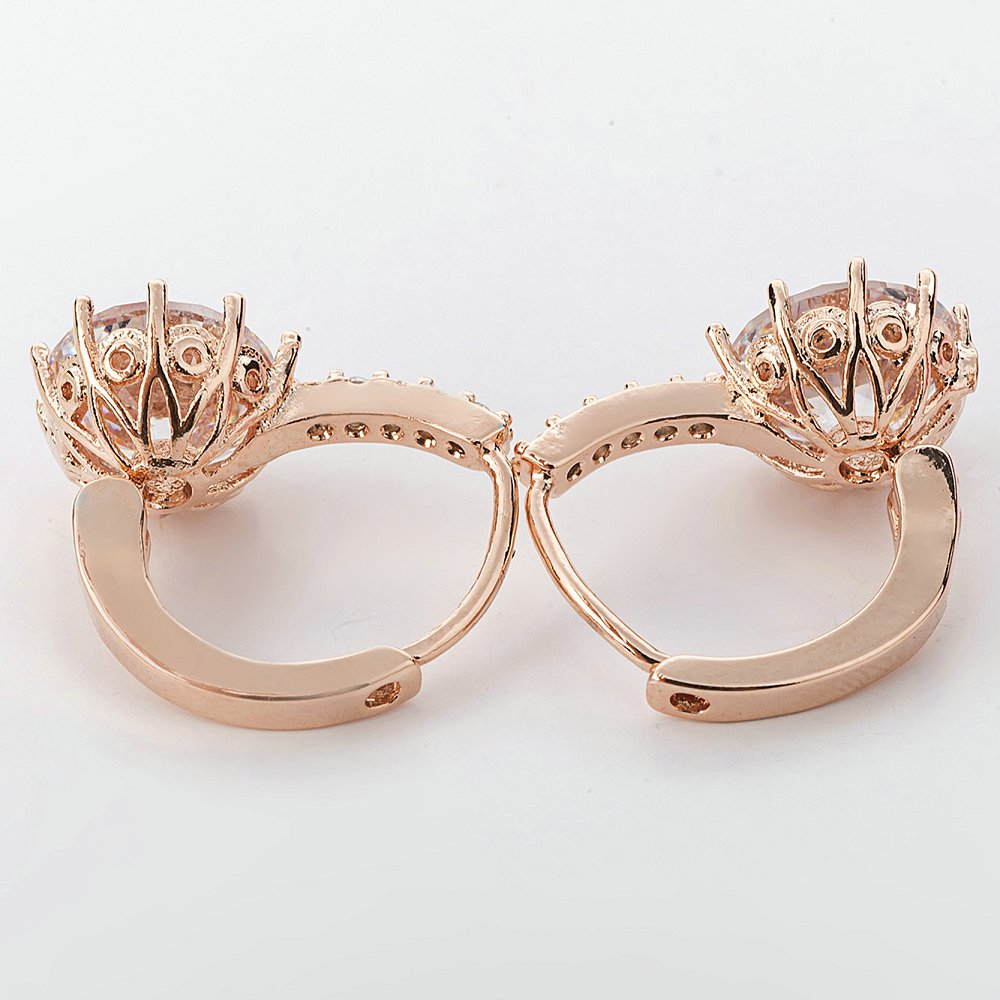 Jiayiqi New Vintage Earrings Rose Gold Crystal CZ Bling Drop Earrings For Women Girls Christmas Gfit Fashion Wedding Jewelry 2