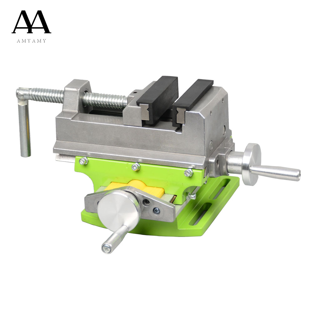 AMYAMY Cross Slide Vise Vice table Compound table Worktable Bench alunimun alloy body For Milling drilling