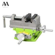 Corpo da liga de alunimun do banco composto da tabela do torno da tabela da corrediça transversal de amyamy para a perfuração de trituraçãoAcessórios para ferramenta elétrica