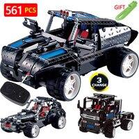 Technic Transformtion Variable LegoINGlys Vehicle Truck Offroad Radio Remote Control Machine Car Blocks DIY Toys For Children