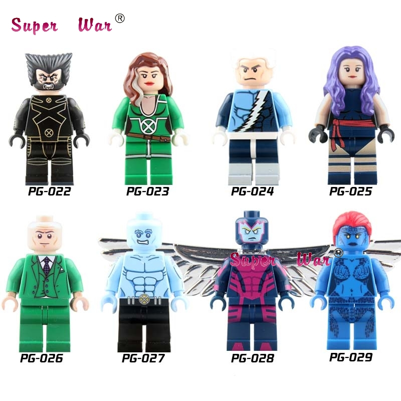 80pcs pg8006 X-Men Apocalypse Wolverine starwars superhero building blocks action bricks friends for games children toys