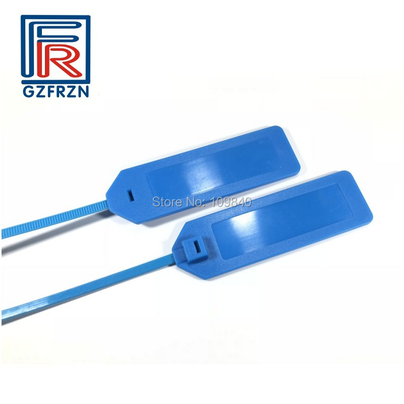 1000pcs Custom Waterproof Plastic Traceability UHF RFID Ribbon Zip Tie ISO18000-6C Cable Label Tag For Packaging Tracking