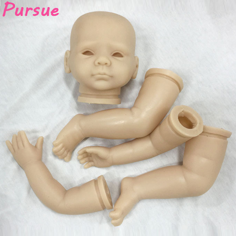 Pursue 20 inches Eyes Open Unpainted Blank Reborn Doll Kits(head,limbs) DIY Reborn Accessories Lifelike Girl Boy Supplies Set good price reborn baby doll kits for 17 baby doll made by soft vinyl real touch 3 4 limbs unpainted blank doll diy reborn doll