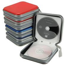 Przenośny 40 sztuk płyt CD DVD portfel do przechowywania organizator Case uchwyt na pudełka CD rękaw twarda torba pudełko na Album przypadkach z zamkiem błyskawicznym