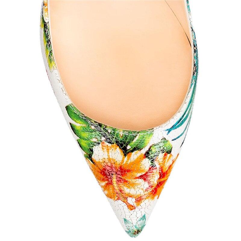 Aiguille Printemps 47 Fleurs Enmayla Femme Pour Chaussures Talon Pompes Multi Talons Sexy Hauts Femmes D'été Taille À Bout Pointu Grande 5UwUqAxtF