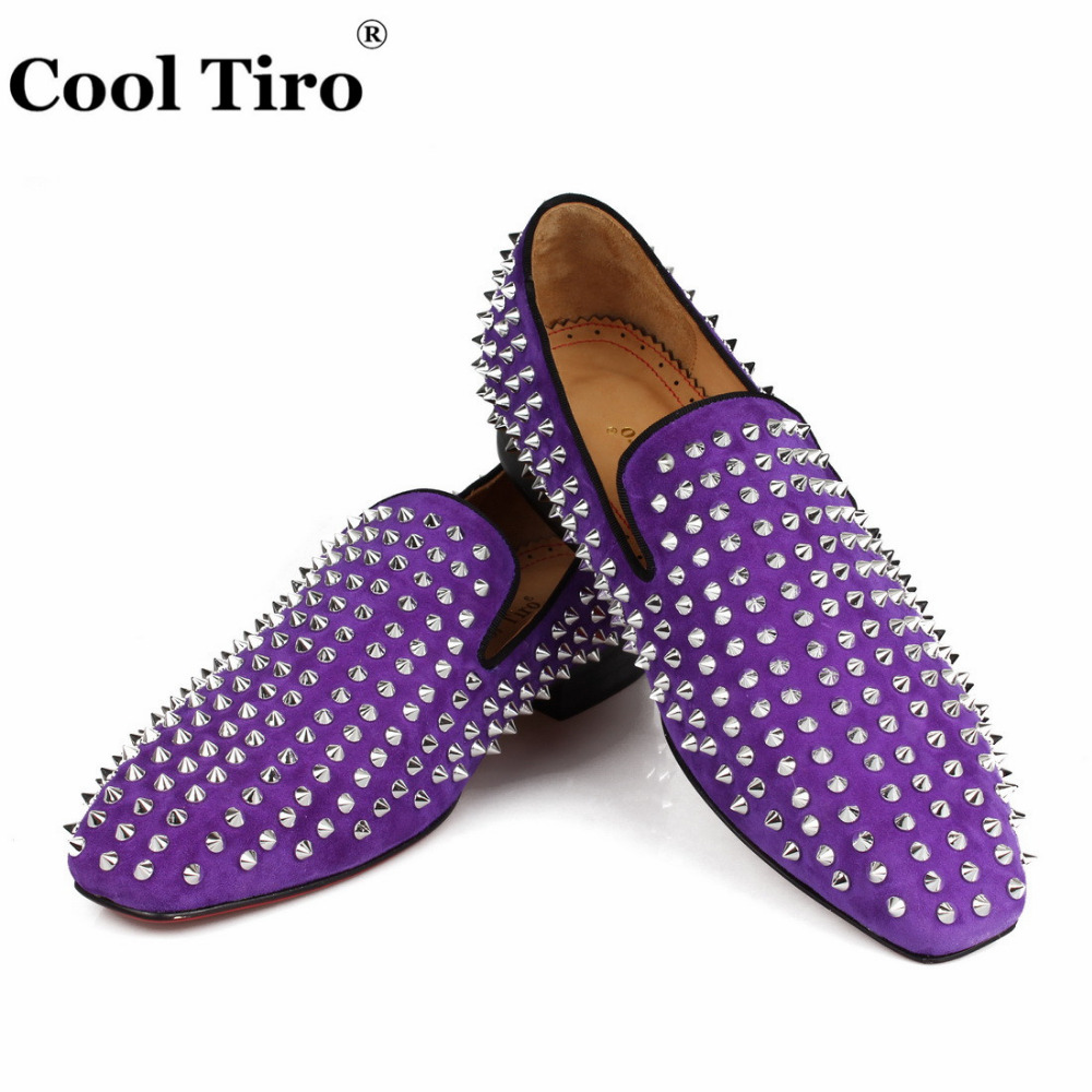 spikes Loafers purple suede  (6)