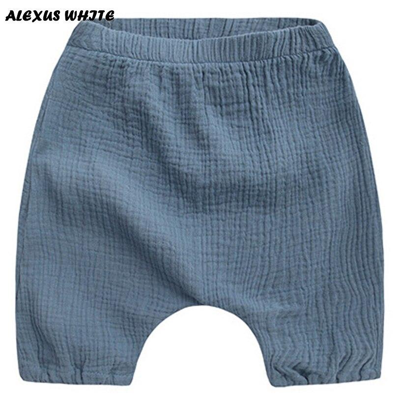 2018 летние Детская одежда шорты для мальчиков малышей Твердые Хлопок белье одежда для малышей шорты шаровары штаны От 1 до 6 лет Bebe
