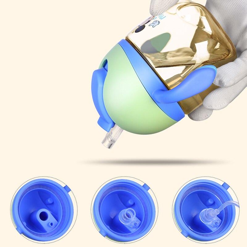 Disney 280ml Water Bottle With Handle BPA Free Leak Proof Tritan Mickey Deisgn Kids Drinking Bottle Baby Bottle Feeding