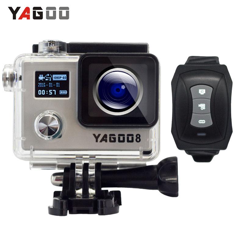 Yagoo8 Dual screen 2.0LCD 4K Action Camera WiFi Full HD 1080P 24fps Mini Helmet go cam pro sports Camcorder remote