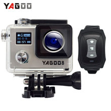 Yagoo8 Dual screen 2.0″LCD  4K Action Camera WiFi Full HD 1080P 24fps Mini Helmet  go cam pro sports Camcorder remote