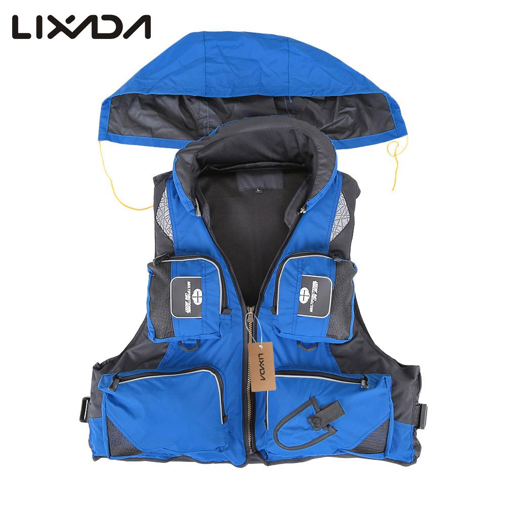 Fishing Vests Fishing Aggressive Lixada Adult Polyester Swimming Life Jacket Vest Fisihng Vest Drifting Boating Survival Fishing Safety Jacket Water Sports Wear Beneficial To Essential Medulla