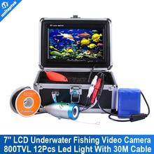 """Nueva Llegada 7 """"TFT LCD de Vídeo Subacuática Sistema de Cámara Submarina Buscador de Los Pescados Deleite de Pesca Sistema de Cámara HD 800TVL 30 M Cable"""