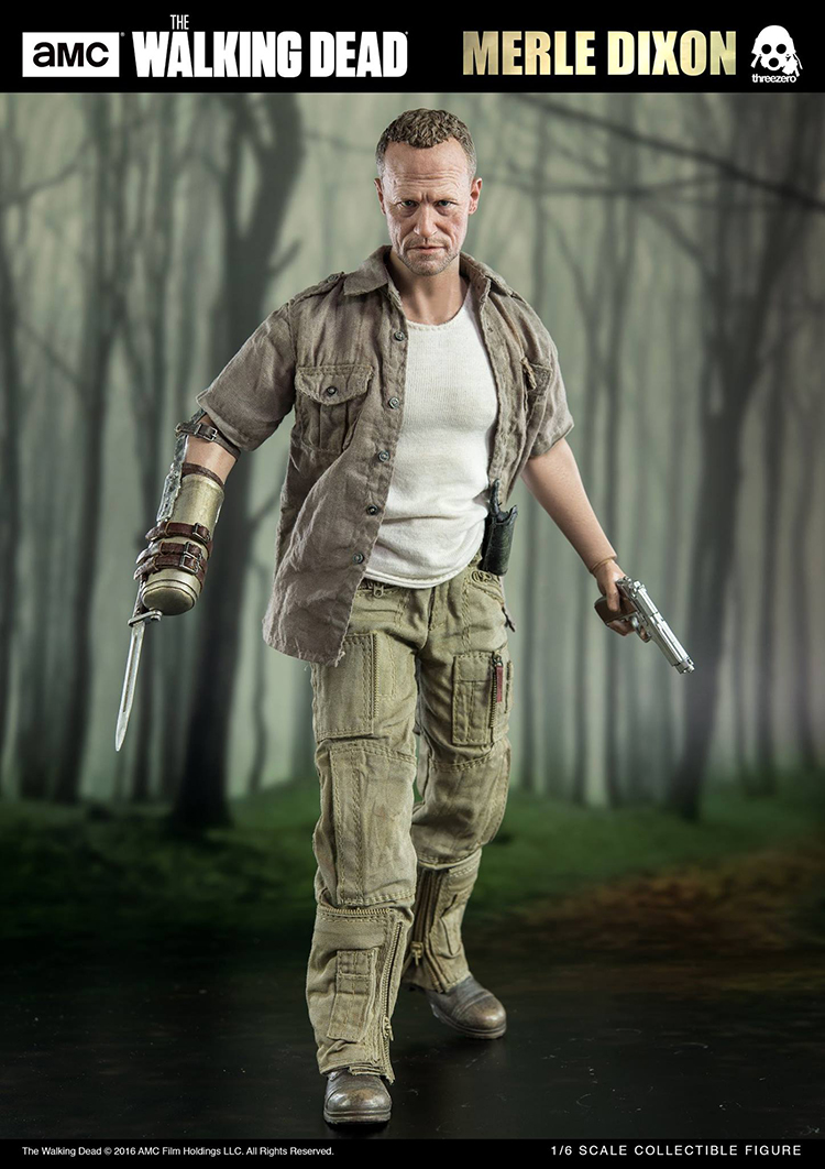 1/6 Walking Dead Merle Dixon Moore Soldier Action Figure Model 3a 1 6 the walking dead merle dixon collectible action figure toy 1 6 doll collection full set action figure with original box