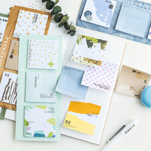 24 pcs/Lot Soft Spring autumn forest sticky note Color collage post memo pad Stationery Office accessories School supplies FM939