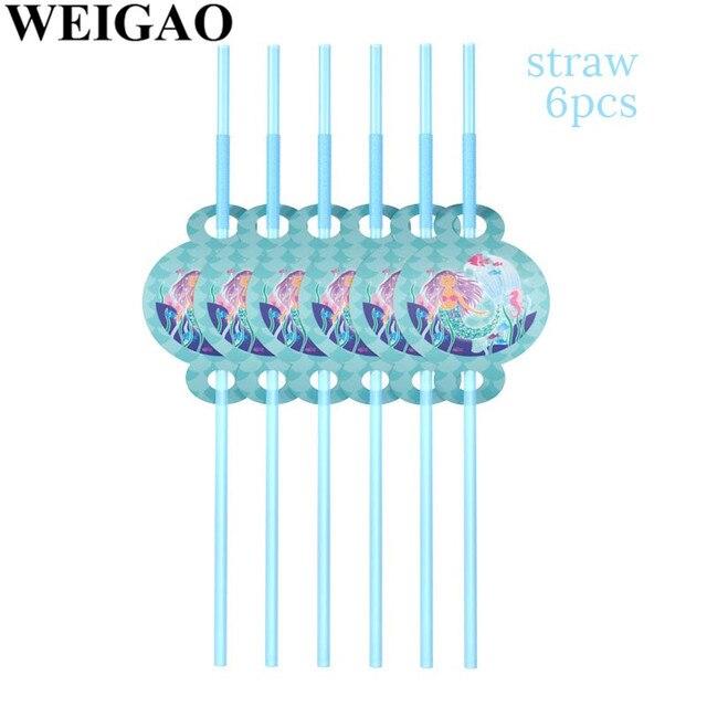 Straws Mermaid party plates 5c64f5cb314ca