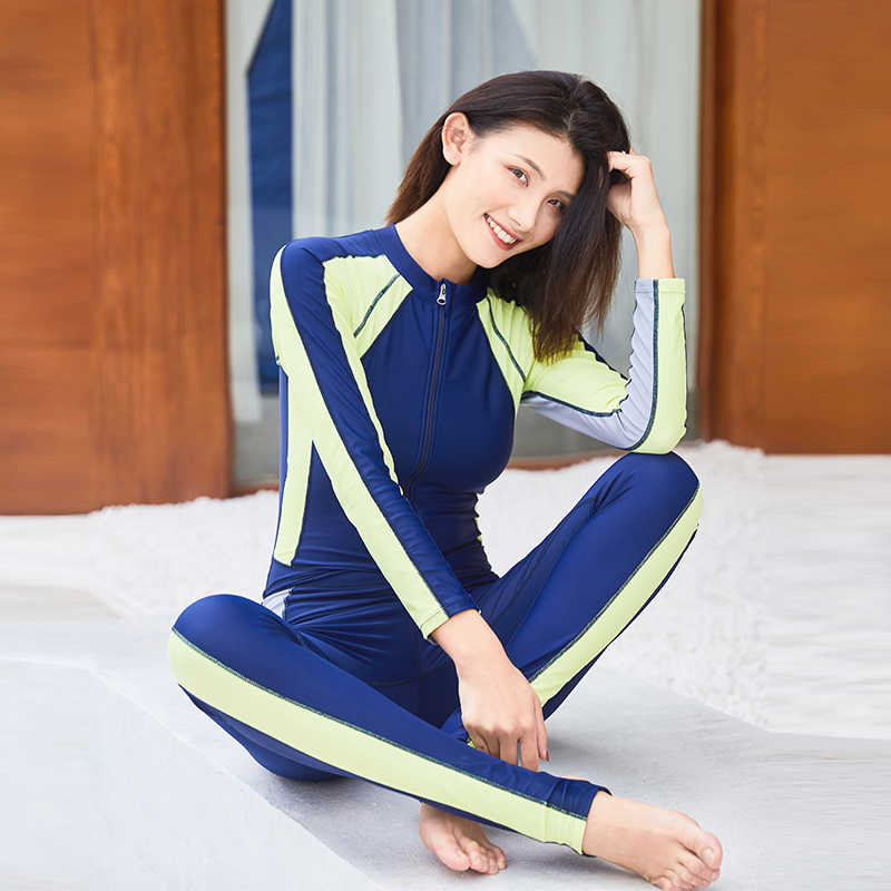 7377f0c7d04 ... 2019 New Style Women s Full Body Scuba Surfing Diving Wetsuits  One-piece Jumpsuit Snorkeling Back ...