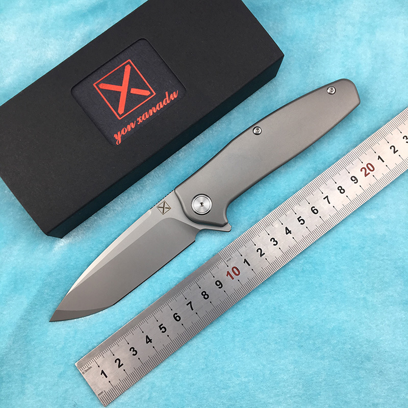 LEMIFSHE  X-750 NEW Folding Knife Ball Bearing VG-10 Blade Titanium Handle Camping Hunting Outdoor Pocket Fruit Knives EDC Tool