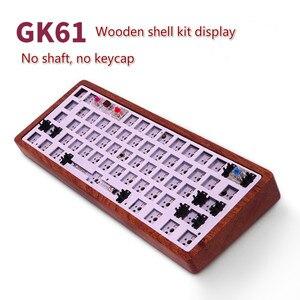 Image 1 - GK61 (ta sama marka GK64) klawiatura mechaniczna zestaw DIY Hot Swap niezależny sterownik tyce c interfejs GH60 RGB